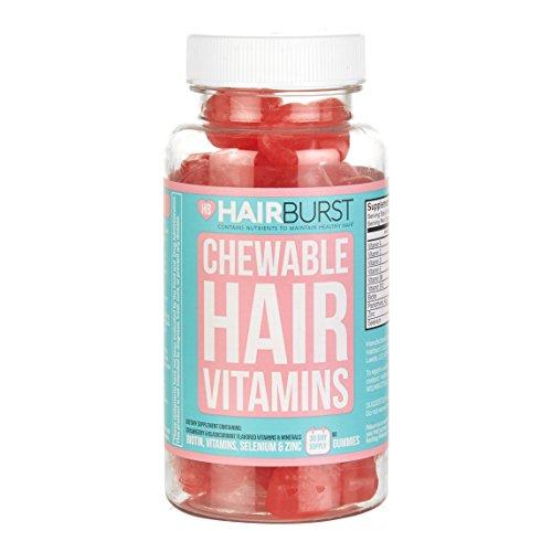 Hairburst Chewable Hair Vitamins One Month Supply, Pack of 60 Gummies