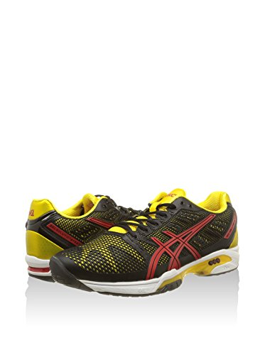 Asics Performance-Zapatillas de deporte silicona Speed Solution Negro / Amarillo / Rojo