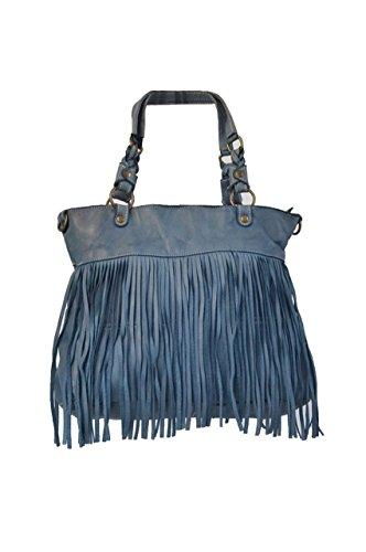 LuanaRomizi.com 8066P18IB - Bolso al hombro para mujer turquesa