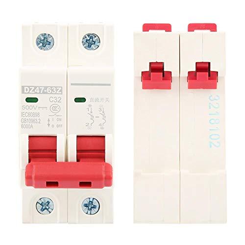 遮断器2P DC 500V 32Aミニ遮断器MCB安全遮断器DZ47-63Z-2P