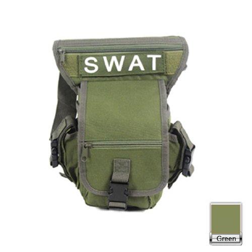 HUAYANG Multifunktions SWAT Tropfen Bein Gebrauchs Taille Beutel Fördermaschine Belt Bag Pack Camping Draußen Spiel(Grün)