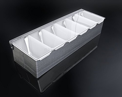 less Steel Condiment Dispenser with 6 Compartments ()