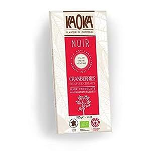 Kaoka Dark Chocolate Cranberries and Cereals 100g