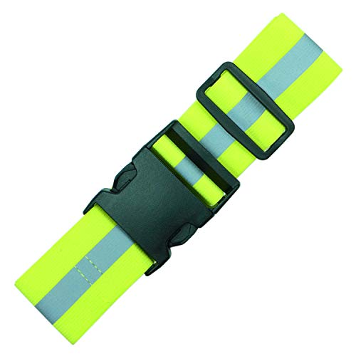 Endura Max Reflectives Reflective Elastic Belt or Sash, Military Heritage Style Glow Belt, Running Walking Motorcycling Friendly, Adjustable (Lime Green Ultralight, Regular)