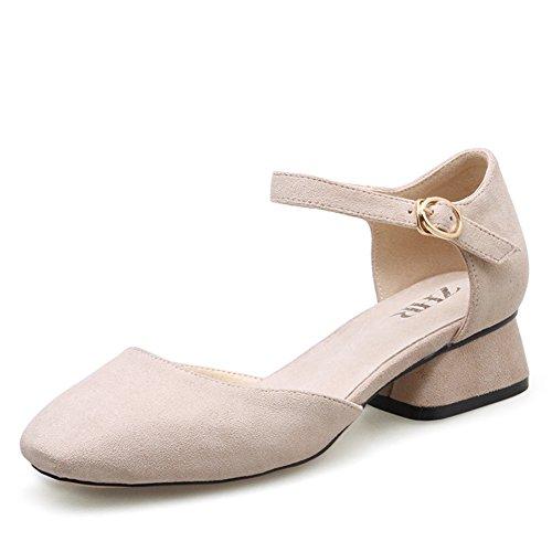 scarpe B Scarpe Casual Dell'inghilterra Primavera Crude Con scarpe Donna Nonna Retrò Light In Di F0wqT0Od