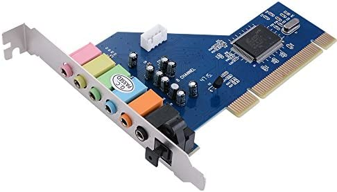 XCSOURCE PCI 7.1 Canales de Sonido Envolvente 3D 7.1CH Tarjeta de Sonido CMI8768 chipset para PC con Windows XP/Vista / 7 AC393