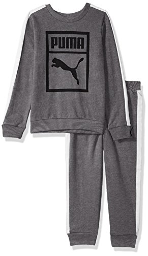 PUMA Toddler Boys' Heritage 2 Piece Set, Charcoal Heather, 2T by PUMA