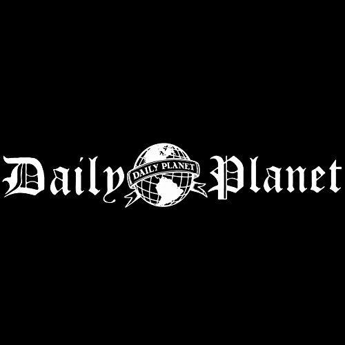 Daily Planet Logo - Vinyl Decal Sticker - For wall, vehicle, computer, home decor (116x22 inch, Matte White) by Bad Fish Custom