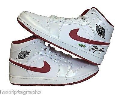 Michael Jordan Signed Jordan 1 Shoes Uda Retro Upper Deck Autograph Bulls Shoe