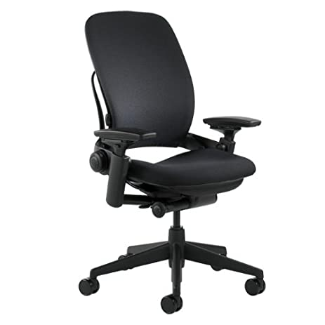 Amazon.com: Steelcase Leap Fabric Chair, Black: Kitchen & Dining