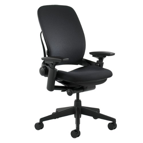 Steelcase Leap Fabric Chair, Black, - 46216179FBL