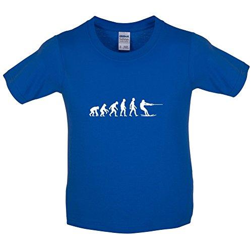 Evolution of Man - Wasserski - Kinder T-shirt - Königsblau - L (9-11 Jahre)