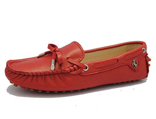 Minitoo Mujer Sandalias Red-Leather
