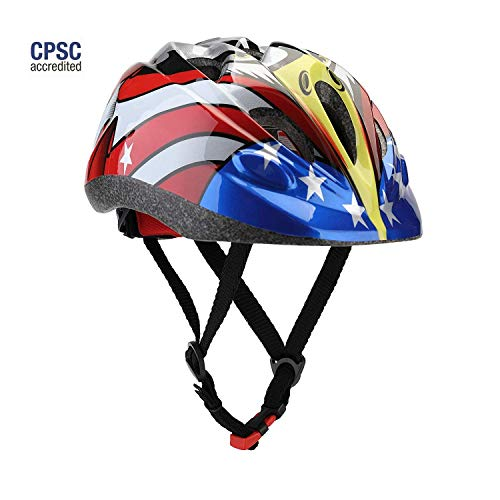 Dostar Kid's Cycling Bike Helmet Road Mountain Racing Adjustable Bicycle Helmets for 2-6 Toddler Boys/Girls (Eagle-Black) ()