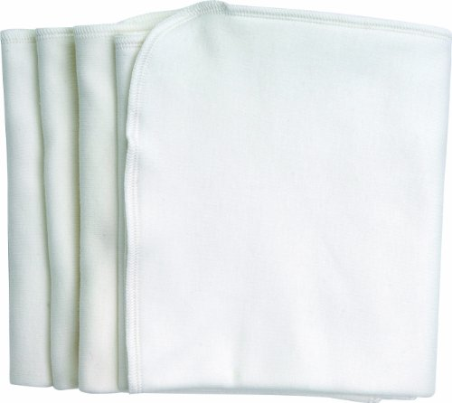 - Under the Nile Burp Cloths, White, 4-Count