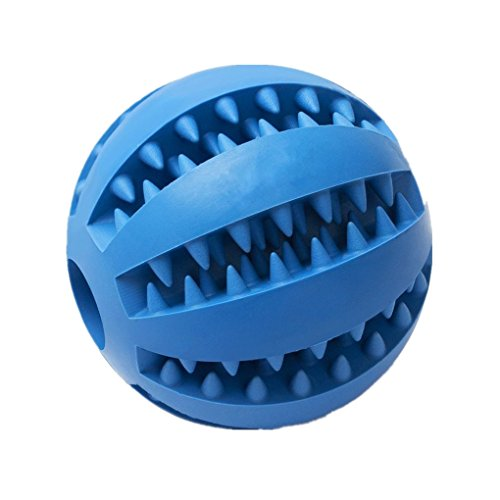 ADOO Dog toy ball made of natural rubber Toys for dogs Robust natural rubber dog ball for treats Long lasting dog game Also for puppies chew