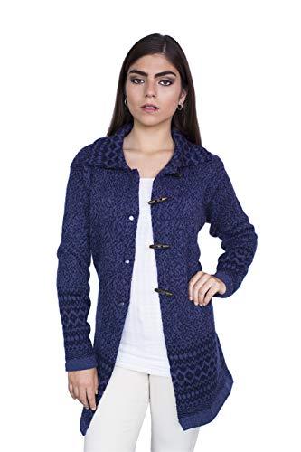 Raymis 100% Alpaca Wool Peruvian Women´s Hand Knit Puno Cardigan Sweater (Medium)