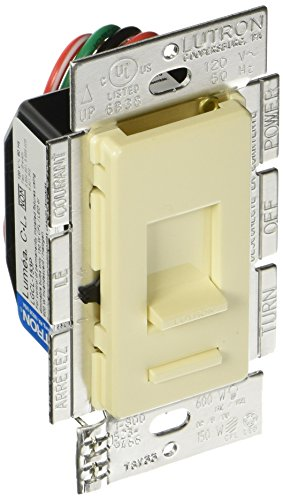 Lutron LGCL-153PLH-AL 150W Single-Pole/3way LED/CFL Dimmer, Almond
