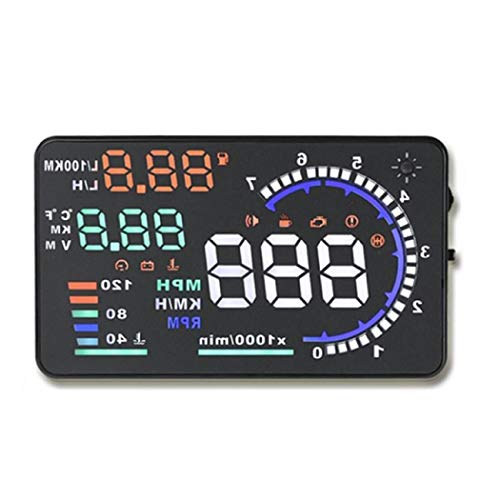 Head Up Display for Car,5.5 inch OBD II Car HUD Head Up Display with Speed Fatigue Warning RPM MPH Fuel Consumption