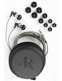 Acoustic Research EarBuds incluyendo Consejos de 3 Set de silicio Negro   Plateado
