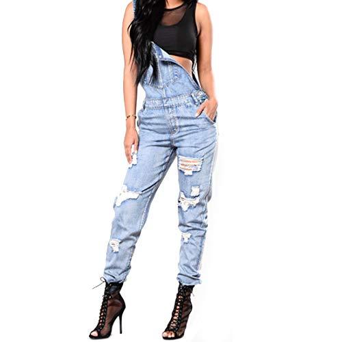 Styles Color Long Femme Pantalon avec dchire pour 2 Barboteuse 1 Longue Taille Extensible Style Stretch Style Skinny Grande S Jean Wowulgar en Salopette 2 Size TYqUxXPwnZ