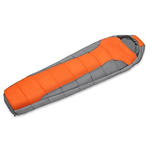 DMGF Adult Mummy Sleeping Bag Waterproof Portable With Compression Sack And Cozy Lightweight For Backpacking Hiking Camping Outdoors Exploration Bag
