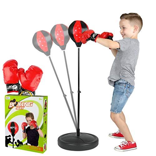 ToyVelt Punching Bag For Kids Boxing Set Includes Kids Boxing Gloves And punching bag, Standing Base With Adjustable…