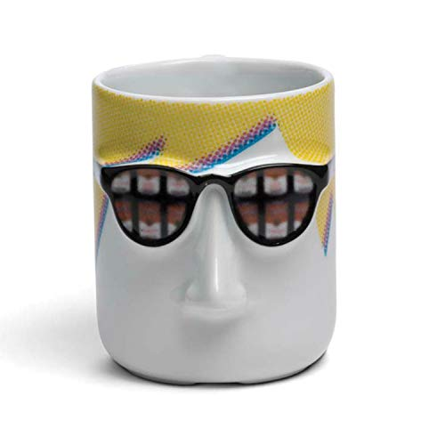 (MP Barcelona Artist Series Coffee Mugs - Andy Warhol with Glasses & Soup Cans)