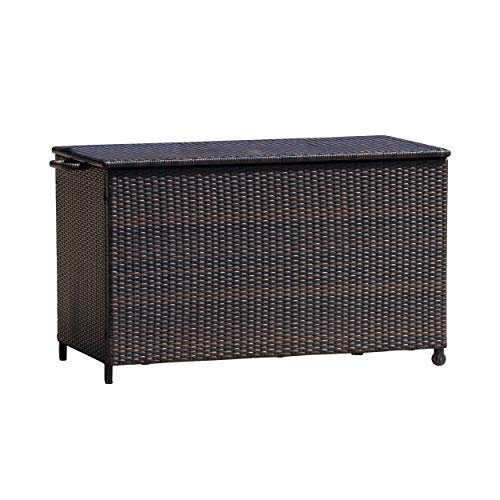 Great Deal Furniture 238417 Freeport Brown Wicker Outdoor