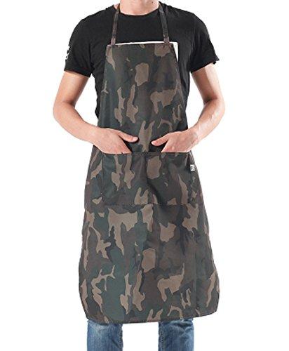 CRB Fashion Professional Chef Apron Mens Womens Camouflage Print Kitchen Garden Handy Apron (Mens USA Large) ()