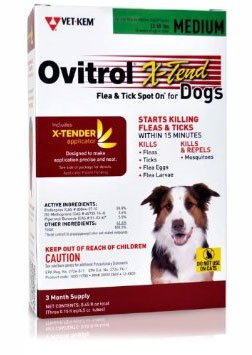 Ovitrol XTend Flea Tick Spot On for Medium Dogs (3255 lbs) 3 Month