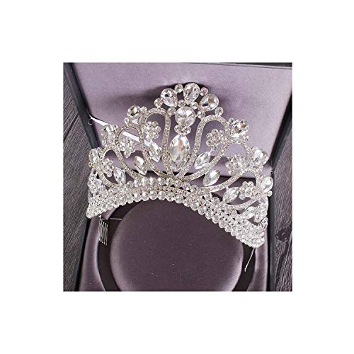 Metallic Lace Imperial Crown - New Silver Gold Color Wedding Queen