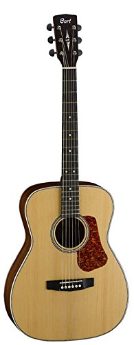 Cort L100C NS Luce Series Acoustic Guitar Concert Body, Solid Spruce Top, Natural Satin