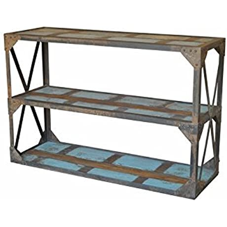 47 Rustic Farmhouse Reclaimed Wood SPANISH STYLE Sofa Console TABLE Handmade