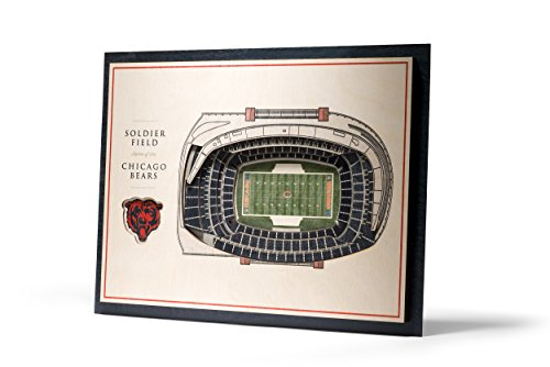 NFL Chicago Bears 5-Layer Stadiumviews 3D Wall Art Chicago Bears Nfl Stadium
