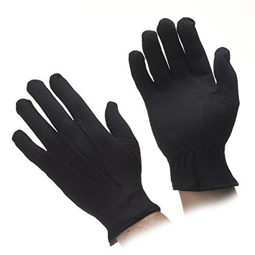 White Cotton Gloves. Black Cotton Gloves