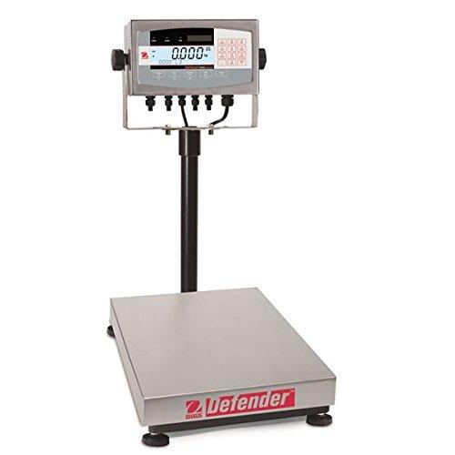 Ohaus Bench & Floor Scales - Defender Model D71XW60HR1, 150lb x 0.02lb (60kg x 0.01kg) default resolution<BR>Platform Size 12 x 14 x 3.54 in / 30.5 x 35.5 x 9.5 Cm