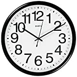 TEMPUS Commercial Wall Clock, Black