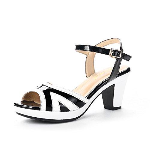 Eu40 De Confortables Taiwan Bouche Sandales heeled High Gros Avec Imperméable Femmes Femme Shoeshaoge Poisson Épais Chaussures wqZgFSKt