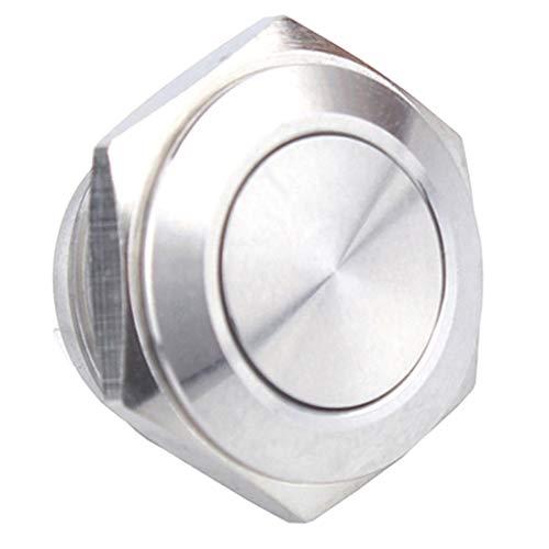 ステンレス モーメンタリ押しボタンスイッチ 16mm 12V リセット LEDリングライト 防水