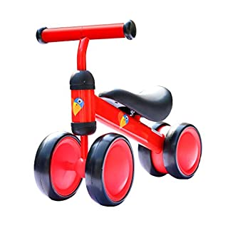 AKABELA Baby Balance Bike Children Walker Toddler Baby Ride Toys for 6-24 Months Toys for 1 Year Old Boy Girl No Pedal Infant 4 Wheels Perfect as First Bike or First Birthday New Year Gift