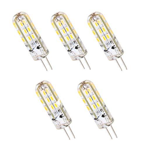 Pack 5 x Bombilla Led Bipin 12V casquillo G4 de 2W - Luz Fría 6000/6500k - 150 Lm - Led SMD 3014 - CRI 80 en silicona: Amazon.es: Iluminación