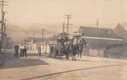 Easton Pennsylvania Fire Dept Horse Carriage Real Photo Postcard -