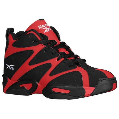 Reebok Kamikaze I Mid Mens in Flash Red/Black/White, 10.5