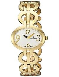 Grovana Women's 4566-1113 Ladies Dress line Analog Display Swiss Quartz Gold Watch