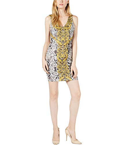 GUESS Women's Sleeveless Rae Dress, Medallion Snake Black/Multi, L