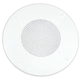 Parts Express White Round Commercial Ceiling Speaker Grill for 8-Inch Speaker