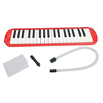 Teekland 37-Key Melodica Instrument with Mouthpiece & Hose & Bag Easy to Control Suitable for A beginner Green