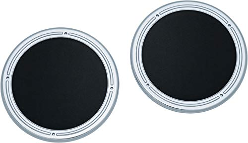 Kuryakyn 7376 Chrome Rear Speaker Accents for 2014-19 Harley-Davidson Motorcycles, Pack of 2