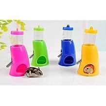 Gooday 2 in 1 Hamster Water Bottle Holder Dispenser With Base Hut Small Animal Nest Toy